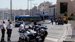 arrollamiento en parada de buses en Marsella