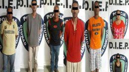 detenidos robacarros y extorsionadores
