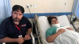 Diana rescatada de los escombros en México