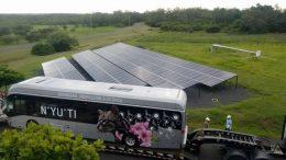 Autobús híbrido sustituye CO2 por vapor de agua en sus emisiones al medio ambiente