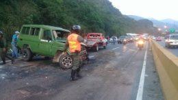 accidente en La Caracas La Guaira