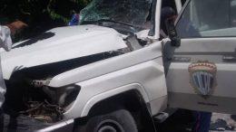 patrulla del CICPC sufre accidente en la troncal 9